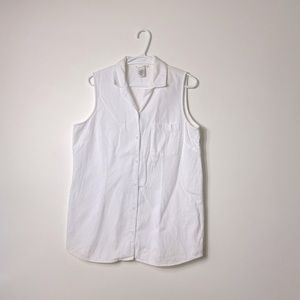 Cotton Ginny Button Up Sleeveless Top